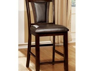 Brent II Counter Ht Chairs Dark Brown Upholstery Set Of 2