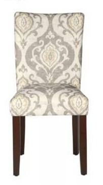 Set of 2 Parsons Dining Chair Cream   HomePop