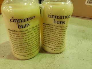lot of 2 Bottles of Cinnamon Buns 3 in 1 Soaps