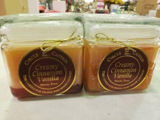 lot of 2 Creamy Cinnamon Vanilla Candles