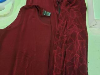 Citiknits Jacguard Jacket with Textured Tank and Pants  Size 3Xl