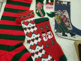 lot of Christmas Stockings