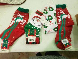 lot of Christmas Socks  Size 9 11