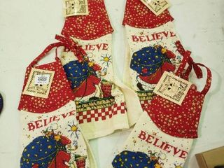 lot of 4 Christmas Kitchen Towels