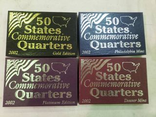 lot of 4 Boxes of Commemorative State Quarters