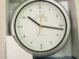 Waterproof Wall Clock with Thermometer