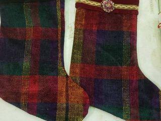 Pair of Plaid Christmas Stockings