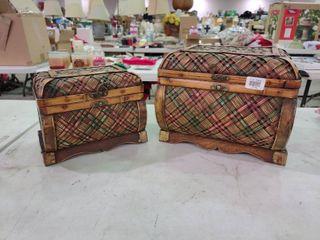 Pair Wooden Decorative Boxes