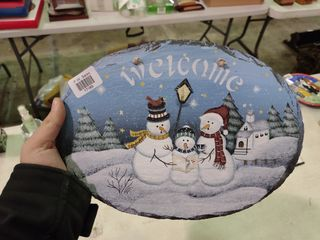 Welcome Snowman Sign