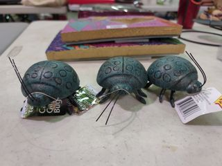 lot of 3 Cast Iron Garden Bugs