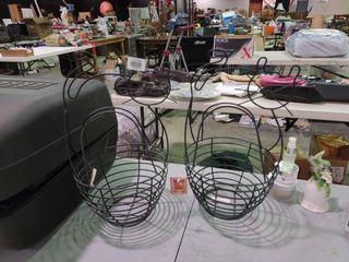Pair of Metal Cat Baskets