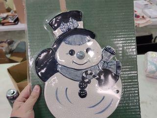 Decorative Snowman Plate