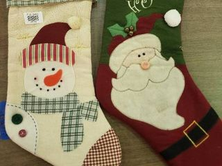lot of 2 Christmas Stockings