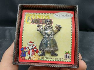 Mary Engelbreit Sterling Silver Santa Claus Pin