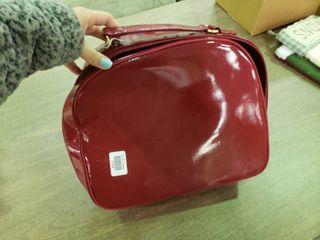 Estee lauder Red Bag  Wallet and Mirror