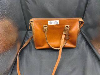 Brahmin Chatham Caramel Hamilton leather Handbag