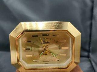 linden Goldtone Quartz Battery Operated Desk Clock