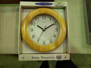 Acu Rite Solid Wood Wall Clock
