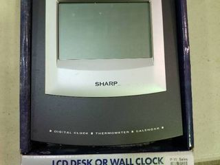Sharp lCD Desk or Wall Clock
