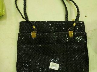 Black Metal Mesh Handbag