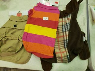 lot of 3 Dog Outfits