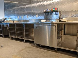Custom Built Stainless Steel Beverage Station  Buyer Responsible For Removal  Contents Not Included