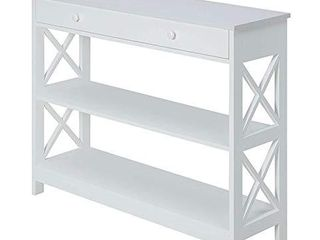 Convenience Concepts Oxford 1 Drawer Console Table  White