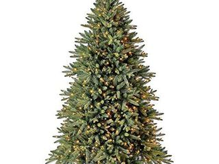 Evergreen Classics 6 5 ft Pre lit Colorado Spruce Quick Set Artificial Christmas Tree  Clear lights