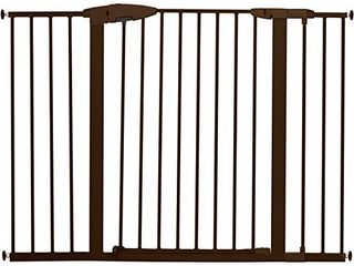 Munchkin Easy Close Xl Pressure Mounted Baby Gate for Stairs  Hallways and Doors  Walk Through with Door  29 5    51 6  Wide  Metal  Bronze