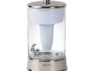 ZeroWater 40 Cup Glass Water Pitcher with Ready Pour   Free Water Quality Meter