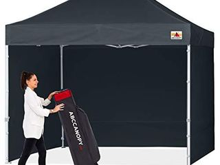 ABCCANOPY Canopy Pop Up Commercial Canopy Tent with Side Walls Instant Shade  Bonus Upgrade Roller Bag  4 Weight Bags  Stakes and Ropes  Black