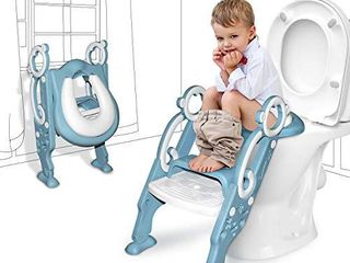 GrowthPic Toddler Toilet Seat with Step Stool ladder for Boy and Girl Baby  Potty Training Seat Kid s Toilet Trainer Seat Chair with Splash Guard
