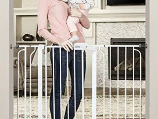 Regalo 37 Inch Extra Tall and 49 Inch Wide Walk Thru Baby Gate  Includes 4 Inch and 12 inch Extension Kit  4 count of Pressure Mount Kit and 4 Count of Wall Mount Kit