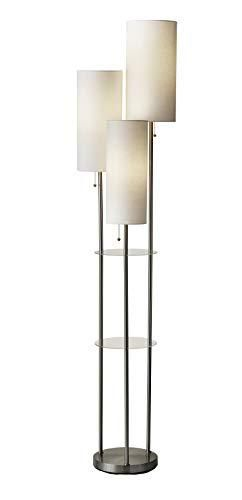Adesso 4305 22 Trio Floor lamp  68 00 x 14 00 x 11 70 inches  Brushed Steel