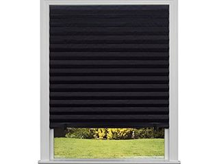 Original Blackout Pleated Paper Shade Black  36a x 72a  6 Pack