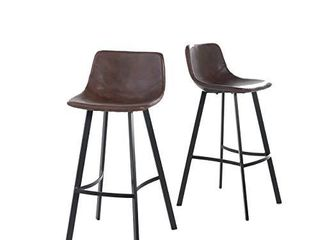 Christopher Knight Home Dax Barstools  2 Pcs Set  Snake Skin Brown