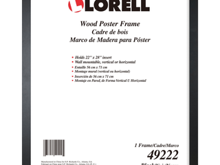 lorell Solid Wood Poster Frame  Black  1 Each  Quantity