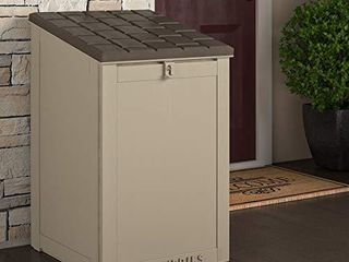 Cosco Outdoor living 88333BTN1E  large lockable Package Delivery and Storage Box  6 3 Cubic feet  Tan BoxGuard