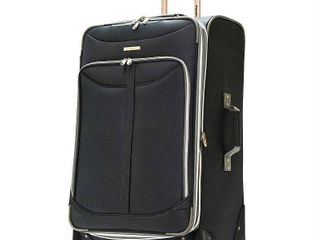 Olympia luggage Tuscany 30 Inch Expandable Vertical Rolling luggage Case Black One Size