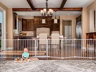 Regalo 192 Inch Super Wide Adjustable Baby Gate and Play Yard  4 In 1  Bonus Kit  Includes 4 Pack of Wall Mounts