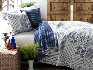The Curated Nomad Sandia 3 piece Cotton King Quilt Set  Retail 94 99