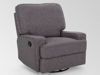 Crockett Traditional Glider Recliner with Swivel by Christopher Knight Home  Retail 446 99