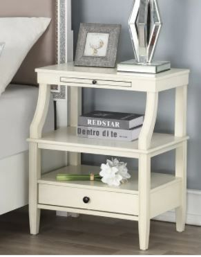 Newport Storage Nightstand by Greyson living  Maybe Missing Hardware  Retail 178 49