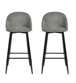Furniture Mid Century Modern Counter Barstool  Set of 2