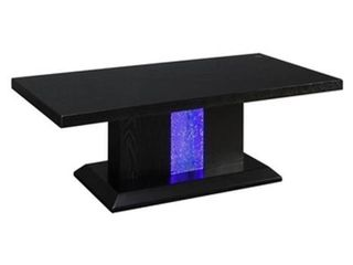 William s Home Furnishing Tobias 50 in  Black large Rectangle Wood Coffee Table