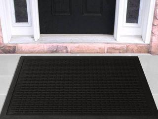 Ottomanson Rubber Entrance Scraper Indoor Outdoor Doormat