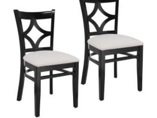 Diamond Back Dining Chairs  Black  Set of Two