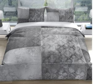 Eclectic Bohemian Patchwork light Grey Queen Comforter by Kavka Designs  Retail 191 49