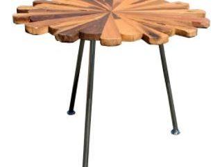 Chic Teak Rustic Teak Wood Masahari Side Table Retail   210 96