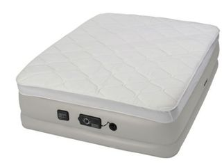 Instabed Raised Pillow Top Queen size Airbed with NeverFlat Pump   Retail 162 49